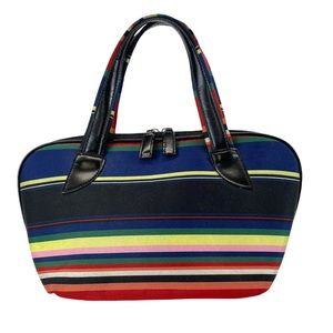 Vintage Kate Spade ♠️ multicolored striped handbag